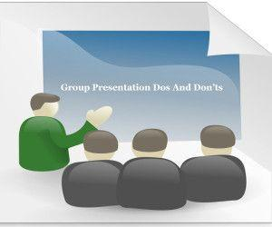 Group Presentation Dos And Don'ts