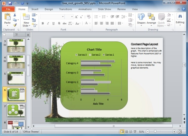 Growing Tree Template With Charts