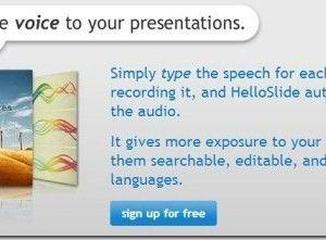 HelloSlide: Type To Generate Audio For Presentations And Share Them Online