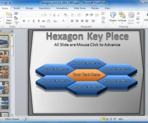 PowerPoint Template With Animated Hexagon Shapes