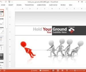 Hold Your Ground Animated PowerPoint Template