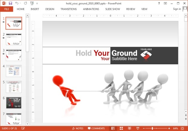 Hold your ground template for PowerPoint