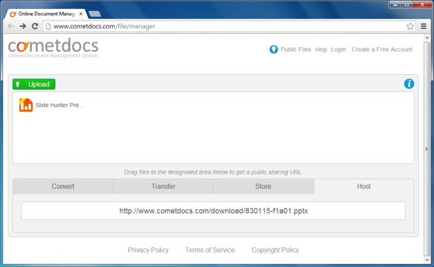 Host Files Online