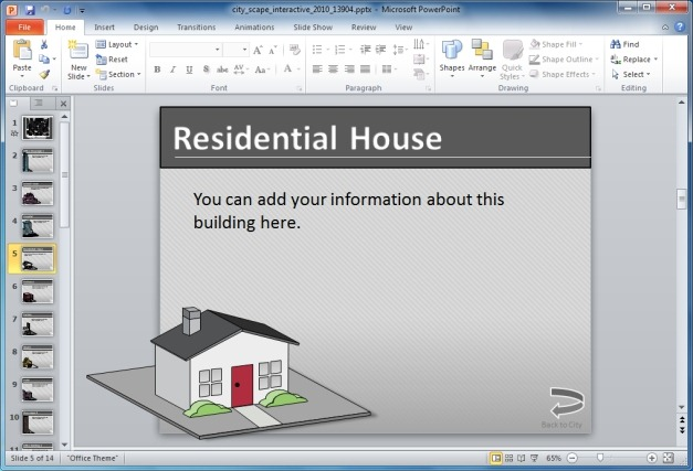 House Slide For Presentations
