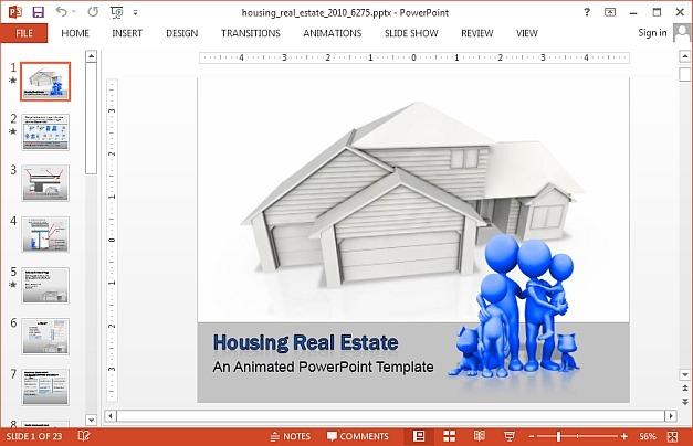 Housing real estate PowerPoint template