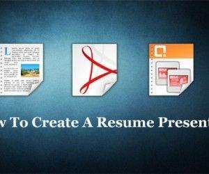 How To Create A Resume Presentation?
