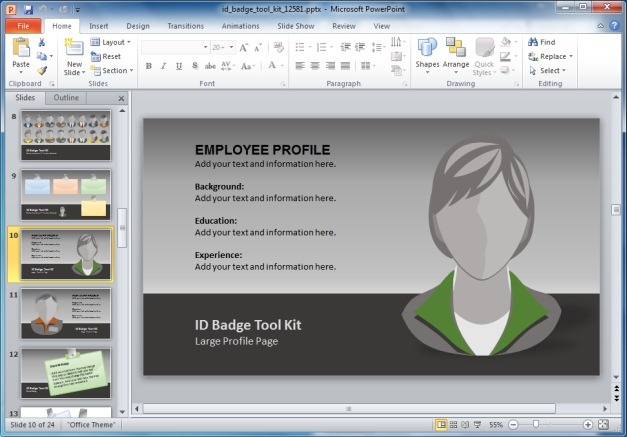 I.D. Badge PowerPoint Template