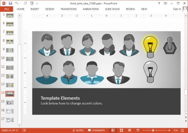 Idea clipart for PowerPoint