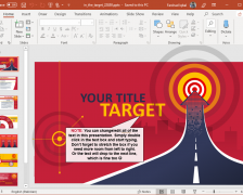 In the Target PowerPoint Template