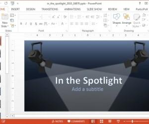 In The Spotlight Animated PowerPoint Template