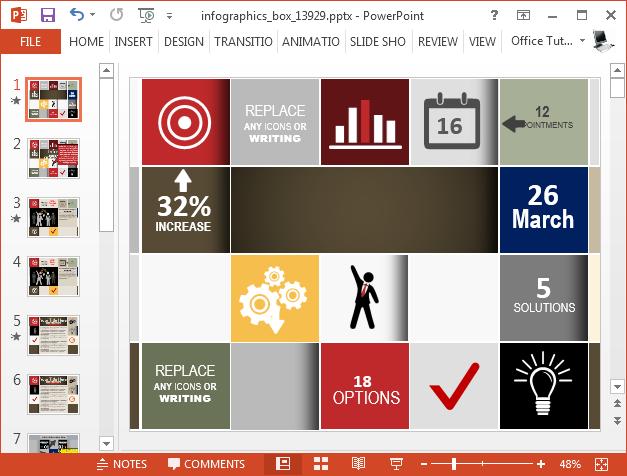 Infographics presentation template