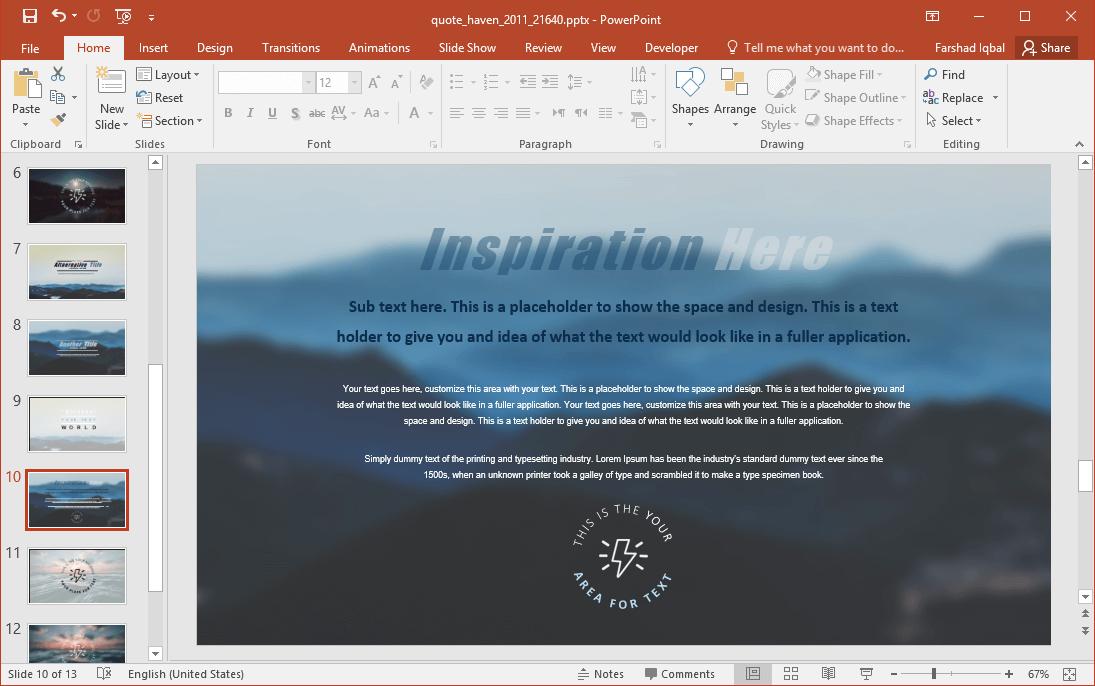Inspirational Slide Design