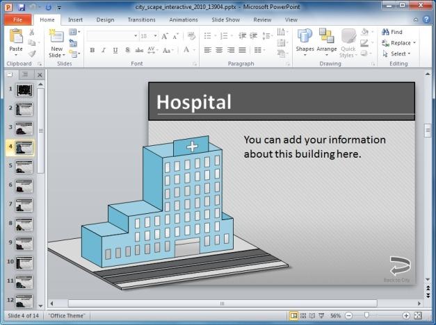 Interactive Cityscape Template