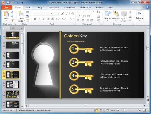 Keyhole Timeline Slide