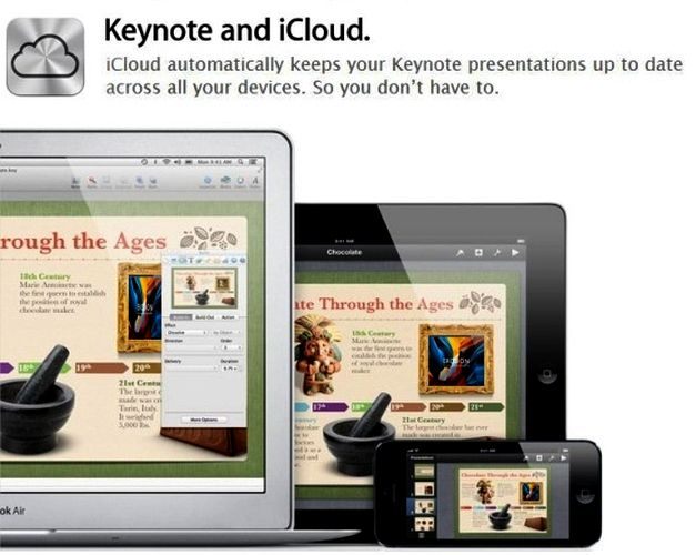 Keynote with iCloud support