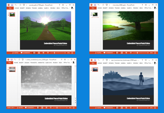 Landscape video backgrounds