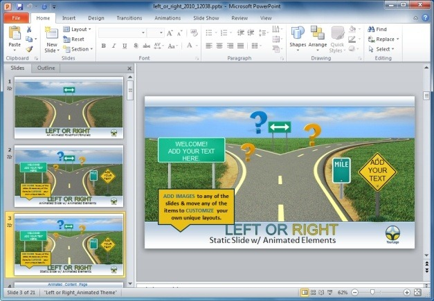 Left or Right PowerPoint Template