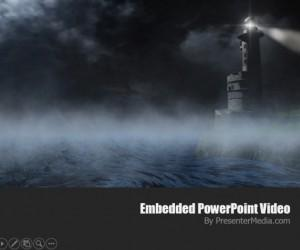 Lighthouse PowerPoint Template With Video Animation