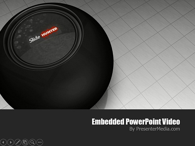 Magic ball video background for PowerPoint