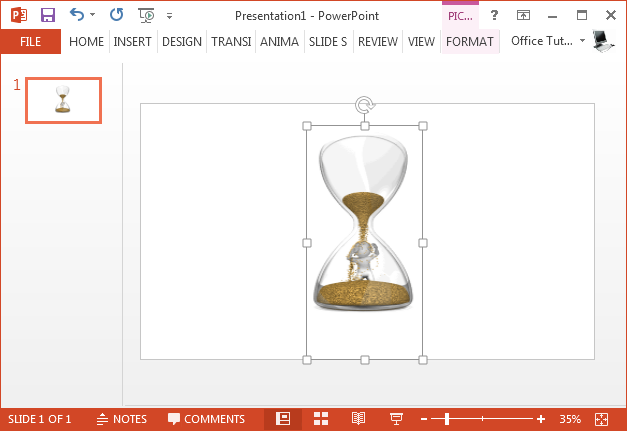 Man in Hourglass GIF