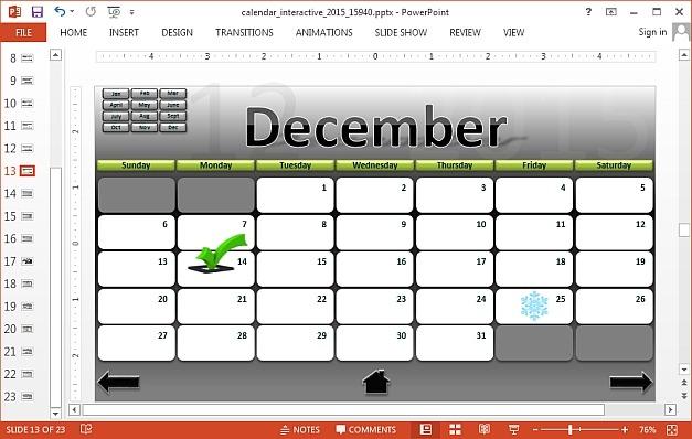 Mark calendar dates