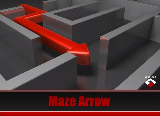 Maze Arrow PowerPoint Template