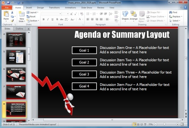 Maze PowerPoint Template