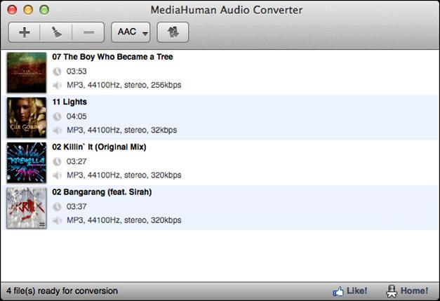 MediaHuman audio converter