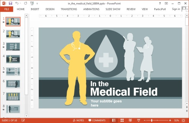Medical field template for PowerPoint