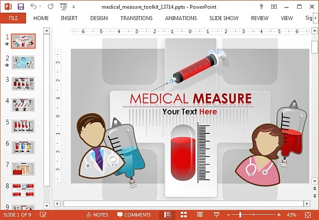 Medical measure toolkit for PowerPoint