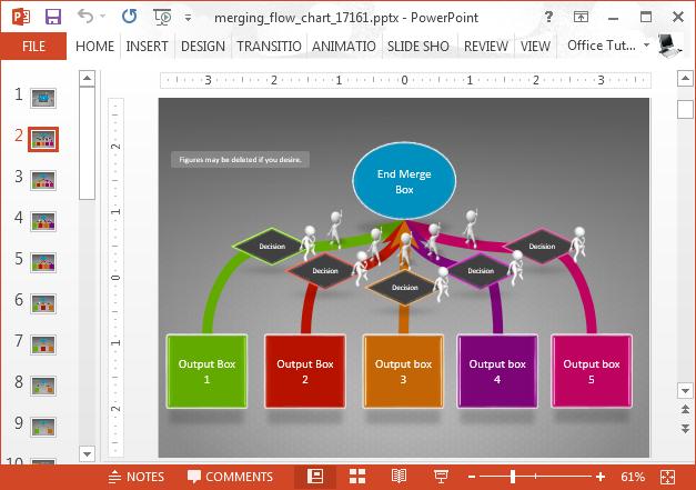 Merging arrows slide design