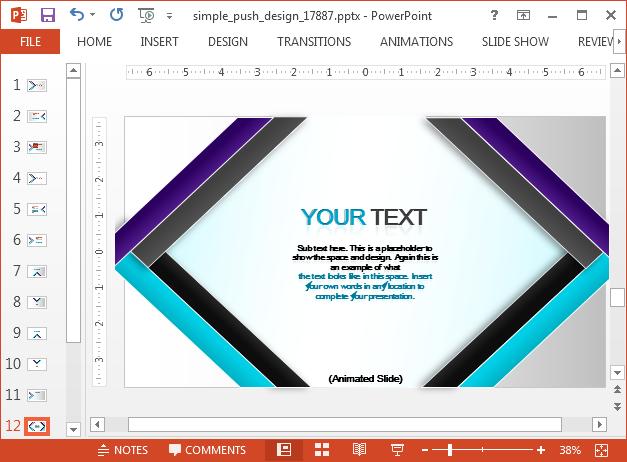 Modern design slide design