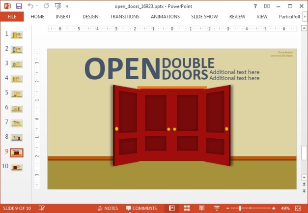 Multiple doors slide design