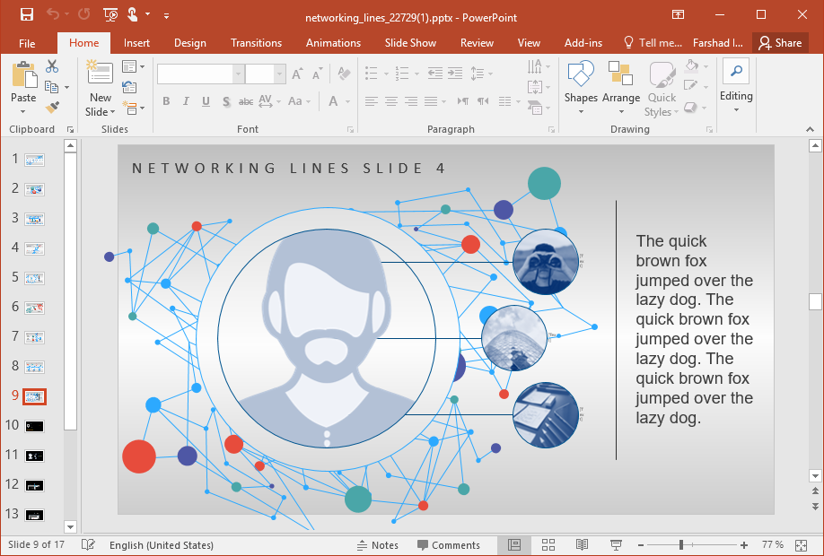Network PowerPoint Template Concept
