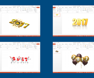 New Year Clipart For PowerPoint Presentations