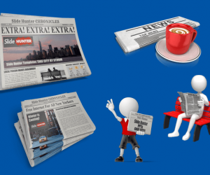 Newspaper Clipart For PowerPoint Presentations