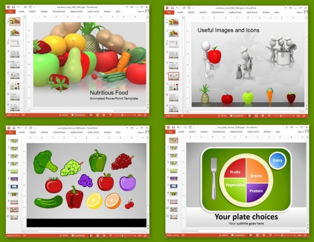 Nutrition templates for PowerPoint