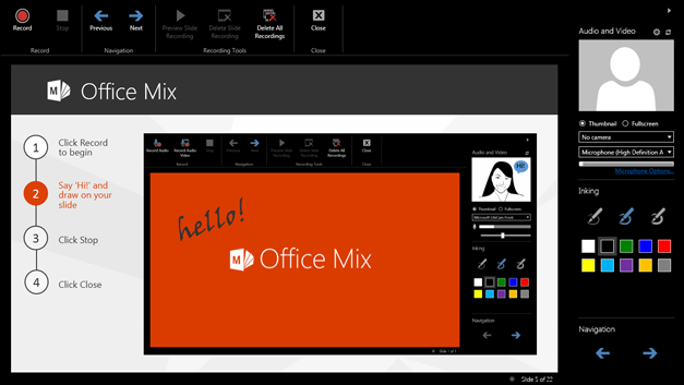 Office Mix for PowerPoint