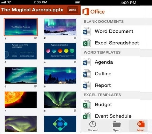 Office Mobile MS PowerPoint Features