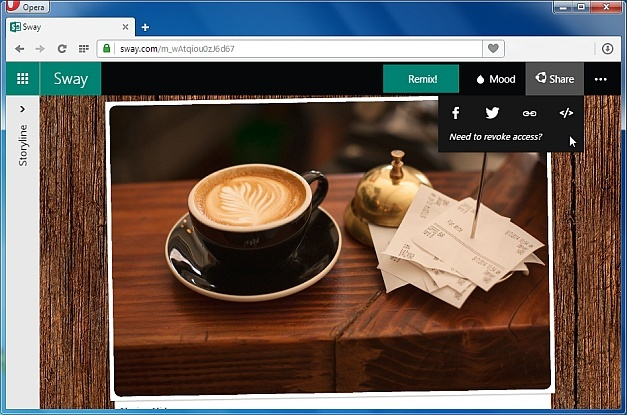 Office Sway presentation web app