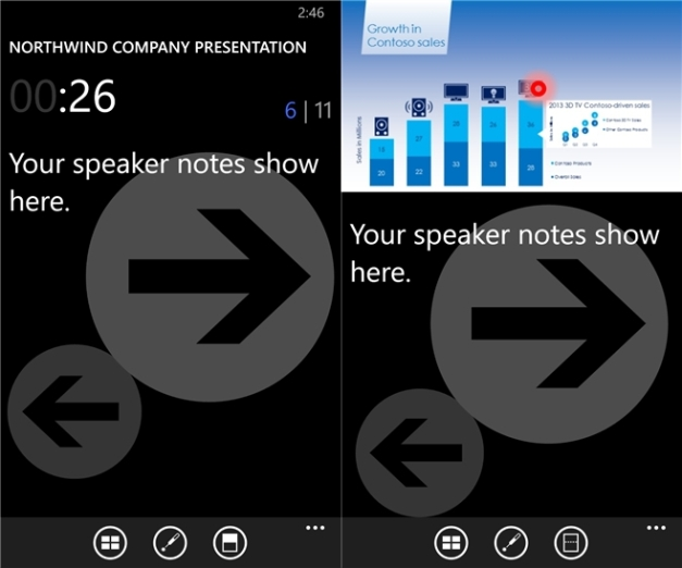 Office remote for Windows Phone