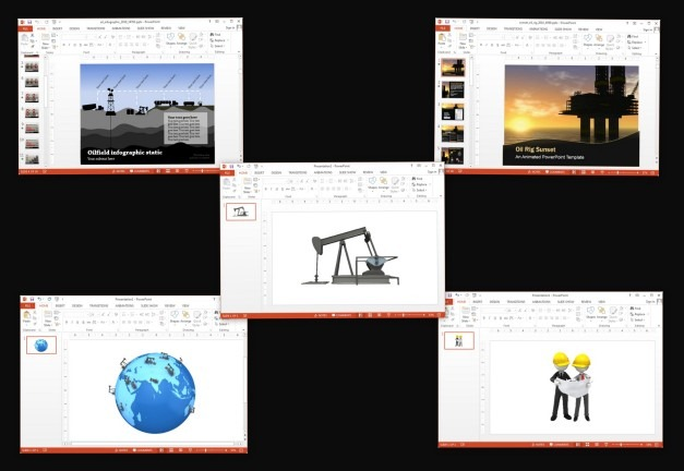 Oil industry templates for Keynote and Microsoft PowerPoint