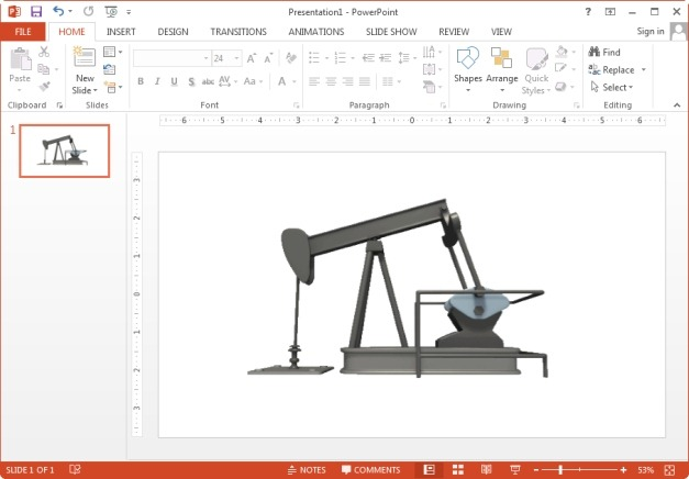 Oil pump animated clipart