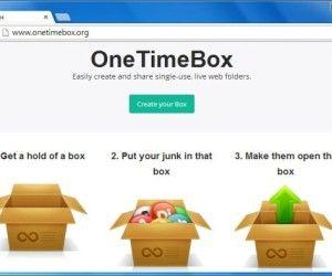 Create A Disposable Folder For Online File Sharing With OneTimeBox
