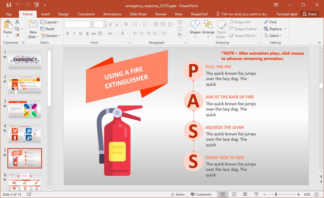 PASS to Extinguish Fire