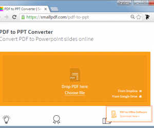 Convert PDF To PowerPoint Online For Free With SmallPDF