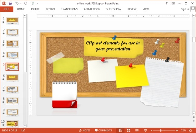 Paper clipart for PowerPoint
