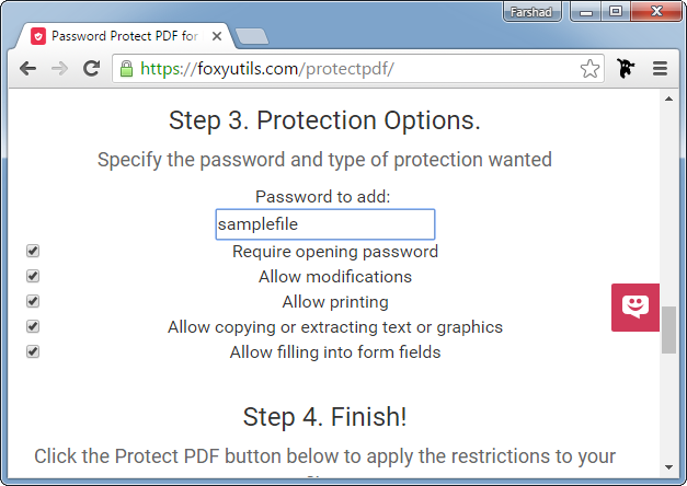 Password protect PDF file
