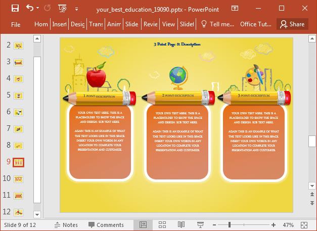 Pencil infographics