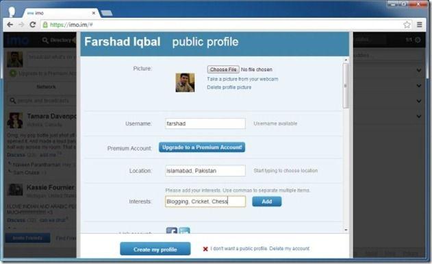 Personalize Profile